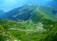 la valley below